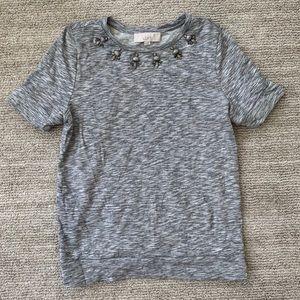 Adorable embellished sweatshirt from Loft, size M